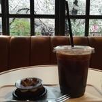 49720545 - チョコレートタルトとアイスコーヒー