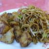 Nakayoshi - 料理写真:焼きそば+小供洋食=じゃが入り焼きそば(500円)