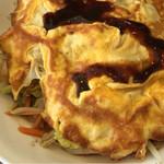 緑亭 - 野菜炒め卵とじ定食780円