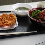 浜のかきあげや - 桜えびの沖漬丼セット~☆