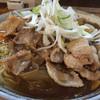 Ramendaichi - 料理写真:豚玉カレー油そば。大盛り。