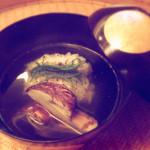 49725619 - 鱧豊年と松茸、柚子の香り