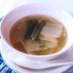 49725762 - からし菜と新タケノコのスープ