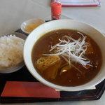 レストラン グリーンパーク - カレー蕎麦のライス♫