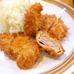 とんかつ武蔵 - 赤身のシンプルな味わいを満喫。岩塩との相性良し!