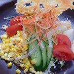 お好み焼き田よし・雫 - 彩り雫サラダ~カリカリチーズ添え~