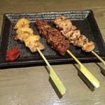 なむさん - 会津地鶏のぼんじり,レバー,せせり,高いだけでそんなに美味しくありません!