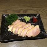 なむさん - 会津地鶏のもも肉刺身風,加熱処理済み