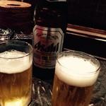 ラーメン研究所 我流る! - 瓶ビール