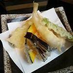 びんび - 天ぷら→玉ねぎにキスにナスビに南京