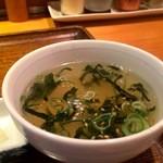おぼや - わかめスープ、トロミがあって美味しいです
