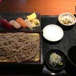 徳樹庵 - 季節の握り寿司御膳 ¥990-外税  2016.4.13 Wed.