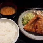 遊食楽酒 舫 - 大判 あじフライ定食(16-04)