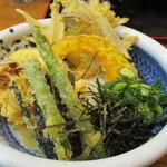 うどん満月 - 野菜天ぶっかけ