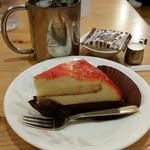 コメダ珈琲店 - 料理写真:2016.4)太陽のオランジェ(380円)とアイスコーヒー(420円)