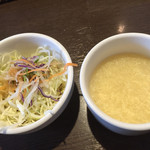 ココイロカフェ - セットのサラダ・ス-プ