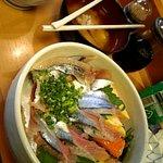 扇寿司 - 箸 お行儀悪くすみません。