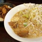 島系本店 - ラーメン煮豚めしセット