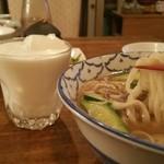 49762506 - ◆羊肉うどん(シュルテホール)                       ◆馬乳酒