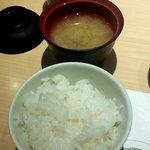 天喜代 - 御飯と味噌汁