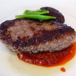 リストランテ アル ケントーレ - ヴェジス風ハンバーグ、ポテト・茸・チーズ入