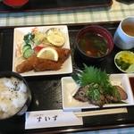 レストランすいず - 牛たたき亭食972円(税込)カキフライ選択