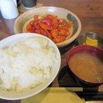 壱ふじ - 料理写真:日替り定食(酢豚、ご飯大盛り無料2016.04.13