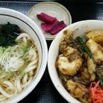 山田うどん - 料理写真:(2016/2月)「イカ天パワフル丼」セット(たぬき)
