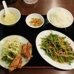 金福来 - 青椒肉絲ランチ780円