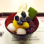 茶乃逢 - 京もてなし~趣~(デザートソフトクリーム)610円