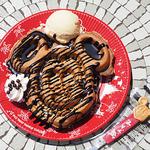 49772590 - チョコレートワッフル+バニラアイスクリーム