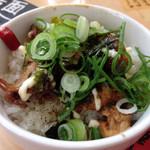 篠寛 - ランチのセットのミニチャーシュー丼