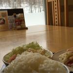 49776055 - 雪景色と白ご飯(笑)