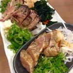 わら焼マン - 三種盛り。なんとなく高知県の「皿鉢(さわち)料理」のイメージ。(2016/4/13)