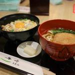 道頓堀 今井  - 料理写真:親子丼と小きつね☆