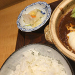 土鍋ごはんと和酒の店 おてだま - ごはんとお新香
