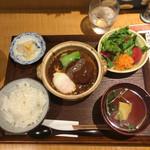 土鍋ごはんと和酒の店 おてだま - 松阪ポーク味噌煮込みハンバーグ880円