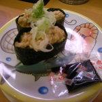 かっぱ寿司 - 納豆軍艦。甘~~いタレをかけていただきます~♪