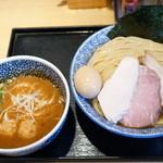麺屋一燈 - 2016.4 特製濃厚魚介つけめん(1,080円)+大盛り券(100円)