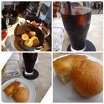 64 Bistro - ◆ドリンクは数種類から選べますので「アイスコーヒー」を。 ◆パンはbuffetスタイルで数種類用意されており、食べ放題。