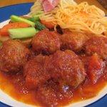グラン - ランチメニュー☆肉団子のトマトソースがけ