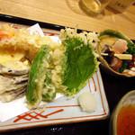 和旬 いさりび - いさりび御膳、天ぷらアップ