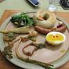 プランタゴ - 料理写真:スマホをいじってると注文したベーグルセットのプレートが出来あがって来ました。