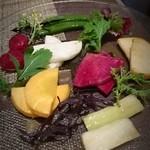 meguronowashokusatou - 高原野菜の昆布締め♡beerlove