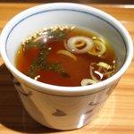 49813950 - 国産和牛すじ肉のビーフシチュー膳 800円 のスープ