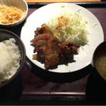 やまや - 豚のしょうが焼き定食 @1,000円