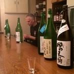 酒BAR よらむ - 手前の高島の生酒