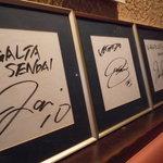 イージーベア - ベガルタ選手のサインがいっぱい
