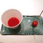 ラール・エ・ラ・マニエール - アミューズ:レッドビーツと稲穂のトマト