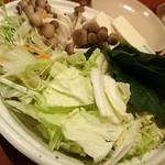 千の庭 HANARE - 和牛しゃぶしゃぶセットの野菜(二人前)